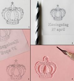 Step by step stamp carving