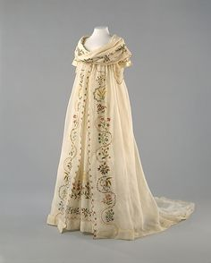 1798 Ensemble  cotton, silk, embroidered
