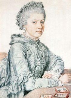 The Athenaeum - Portrait of Marie-Christine of Austria (Jean-Étienne Liotard - No dates listed)