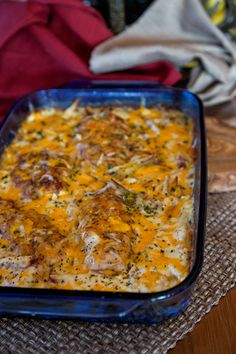 My favorite meal – Creamy Cheesy Potatoes with Chicken Breasts!