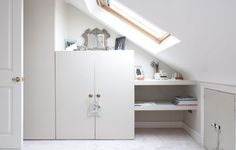 door idea for attic storage space?