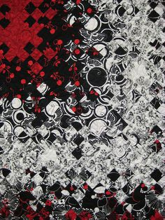 Detail, Black Jack by Joan Nicholson, photo by Amy Dame, Boundary Bay Quilters Guild 2010 show