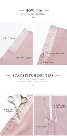 How to: Sew an Exposed Zipper
