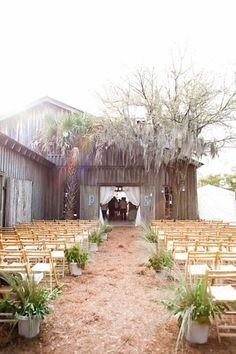 Perfect chairs for an outdoor wedding!