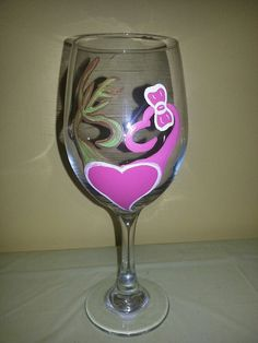Buck and Doe Love Wine Glass by howsheseesitecwood on Etsy, $12.95