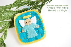 Wild Olive has done it again! This Angels We Have Heard on High Felt Ornament is a homemade ornament craft that features her trademark charm. holiday, felt christma, angel felt, christmas angels, felt ornaments, angel ornaments, christma craft, felt angel, ornament crafts