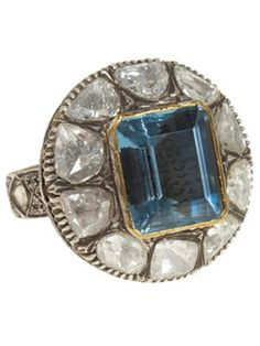 Aquamarine and diamond ring. WOW!