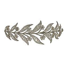 A Georgian diamond floral tiara c1830 | Bentley & Skinner  The Downton Abbey Wedding Tiara!!!!!<3