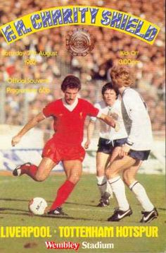 Official programme for the Charity Shield played at Wembley Stadium between Liverpool and Tottenham Hotspur.