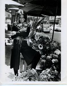 Diane makes a flower run. Paris, 1972.