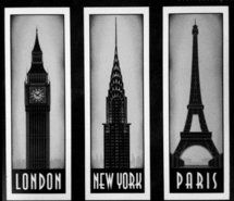 """I think that I want an """"around the world"""" theme for the house. London for the Living room/bedroom, Paris/Spain for the kitchen, Australia for the bathroom ..Maybe Newyork or California.. etc :)"""