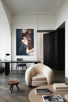 stunning neutral space that lets the artwork stand out