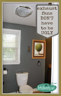 "Karin of the blog ""Art is Beauty"" replaced her bathroom exhaust fan with an exhaust fan + light combo from Broan."