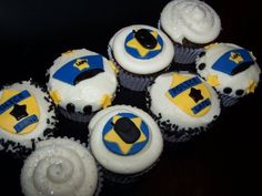 Police Officer Cupcakes!! Great For Law Enforcement Appreciation Week!!