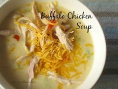 Num's the Word:  Buffalo Chicken soup in 30 minutes.  The perfect quick fix dinner that the entire family will love!!