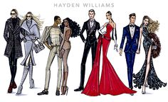 Greyscale, In the Nude, Best Dressed, & Evening Attire by Hayden Williams