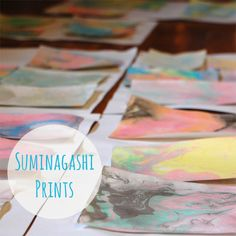 Suminagashi kit- Use to make thank you note cards or bookmarks