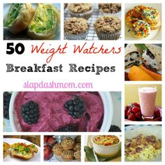 50 Weight Watchers Breakfast Recipes~They look very good and have points next to each one.