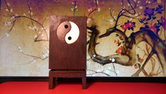 Oriental furniture wooden cabinet with Yin Yang by Amatheria, €37.00