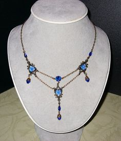 Titanic Jewelry Molly Brown's Blue Lifeboat Necklace