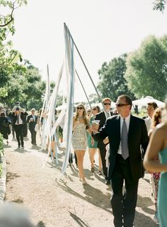 Wedding Parade from Ceremony to Reception! What fun ;) Photography by tanjalippertphoto...