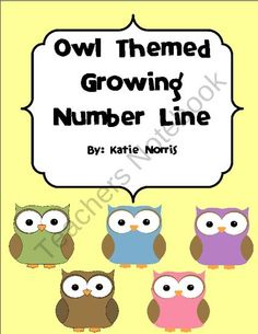 Owl Themed Growing Number Line from Teaching Resources by Katie Norris on TeachersNotebook.com (93 pages)  - This fun colorful set of number cards is great for any elementary classroom. It is helpful to use during calendar time to keep track of how many days in school, to create your own 100s table on the wall, or even for number recognition practice. They