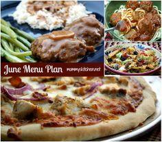 Mommy's Kitchen: June Dinner Menu - 2013