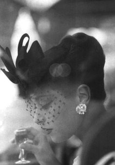 Barbara Mullen wearing a Gilbert Orcel hat, photographed by Henry Clarke in 1956.