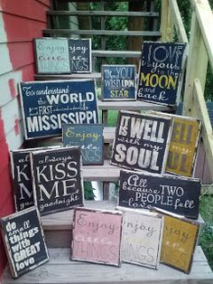 LITTLE RED PORCH handmade signs