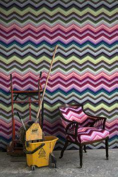 Timorous Beasties Wallcoverings - Zig Zag Moth