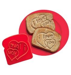 product, toast imprint, heart toast, kitchen dining, stamps, avon, gift idea, toast stamp, imprint stamp