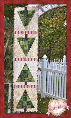 O Christmas Tree Table Runner Kit from Shabby Fabrics