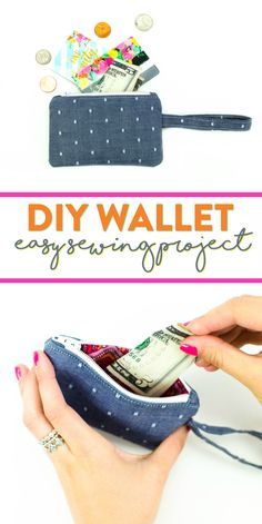 We all need a place to store our money, so why not create a  unique DIY wallet that is cuter than any store bought one?! #sewing #sewingideas #sewingprojects  #easysewingideas #sewingprojectsforbeginners #sewingforbeginners #sewingprojectsforteens  #easysewingideas #sewingtips