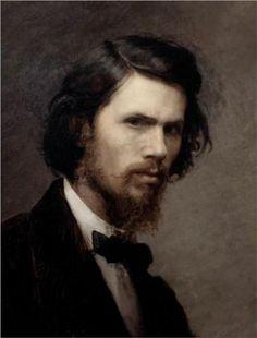 ivan kramskoy, ivan kramskoi, paint portrait, selfportrait paint, dates, self portraits, famous artists, de artist, selfportrait ivan