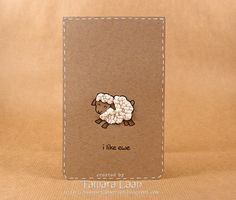 cute baby thank-you cards; instead of sheep stamp, could use sheep die & felt