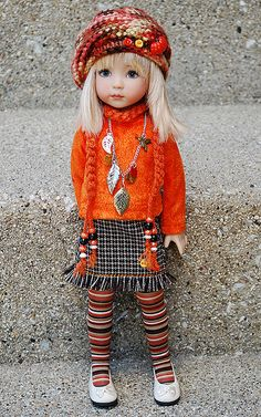 orange3 by katechicago82 (outfit)  doll by Dianna Effner