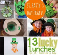 19 St. Patrick's Day Crafts...free printables, kids crafts and recipes.