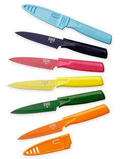 Paring's more fun with these bright knives. #cooking #kitchen