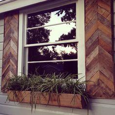 exterior window shutters, shutters chevron, chevron shutters, hous, flower boxes, window boxes