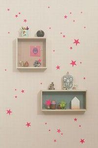 Ferm Living Mini Stars - Neon Wall Stickers   My Urban Child -