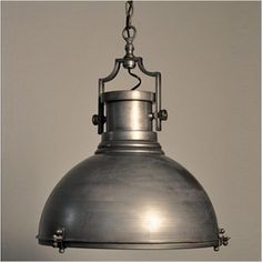 Nautical metal pendant light
