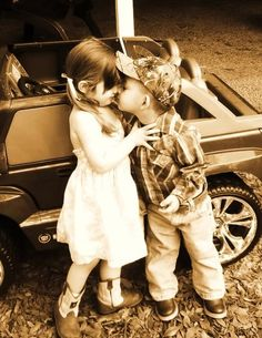 first kiss, george strait, country boys, truck, country kids, children, future kids, countri, kisses