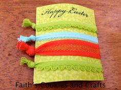 Happy Easter Creaseless Hair Ties by Faith's Cookies and Crafts on FB.... #ribbon from #PYP