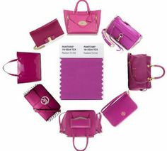 Radiant Orchid .. Color of 2014.  Handbags.