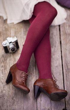 Brown Heeled Oxfords