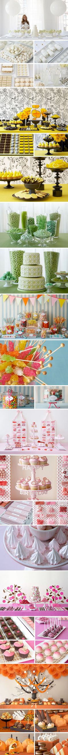 good ideas! holiday, dessert tables, birthday, color schemes, color combos, party themes, candi, modern design, themed parties