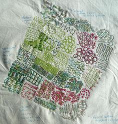 ♒ Enchanting Embroidery ♒ embroidered composition