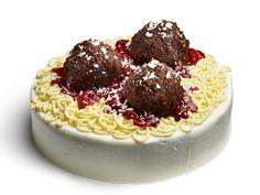Spaghetti and Meatball Cake