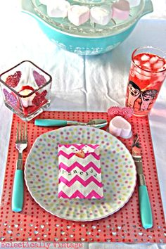 Be Mine Valentine Party ideas from @evintage - #12monthsofmartha
