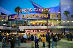 Staples Center, where CHAMPIONS live... I'm talking about the LAKERS and KINGS!